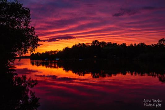 Lake Altoona Spring Sunset