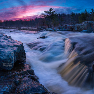 Big Falls Spring Pink Sunset