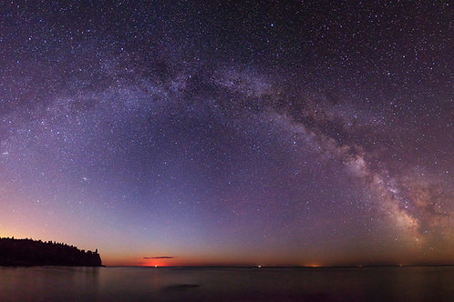 Split Rock Lighthouse Milky Way Panorama