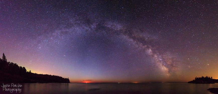 Split Rock Lighthouse Milky Way Panorama