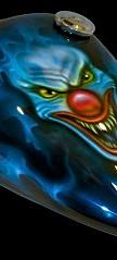 Joker clown petrol tank