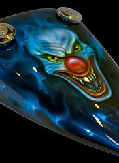 Joker clown petrol tank