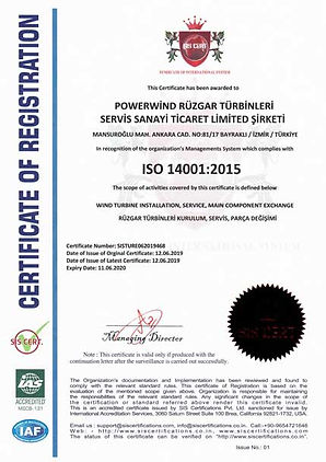 Powerwind-Service-ISO-14001-certificate