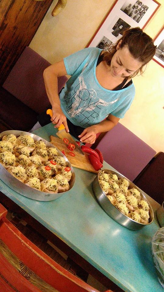 "Learning about greek food in local best of best restaurants ""Sto Scholeio"" in Anidri village."
