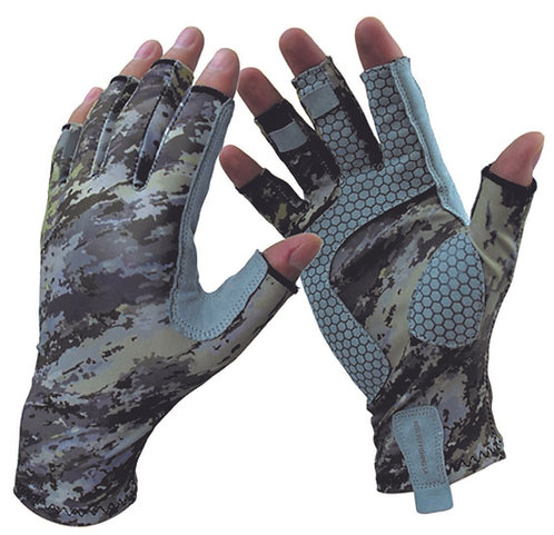 Techno Camo Sun Gloves