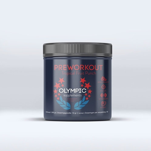The Olympic pre-workout Tropical Fruit Punch 300 gram