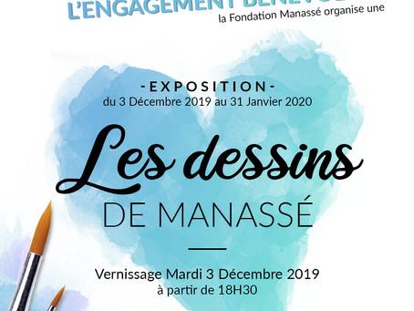 """vernissage """"Les dessins de Manassé"""""""