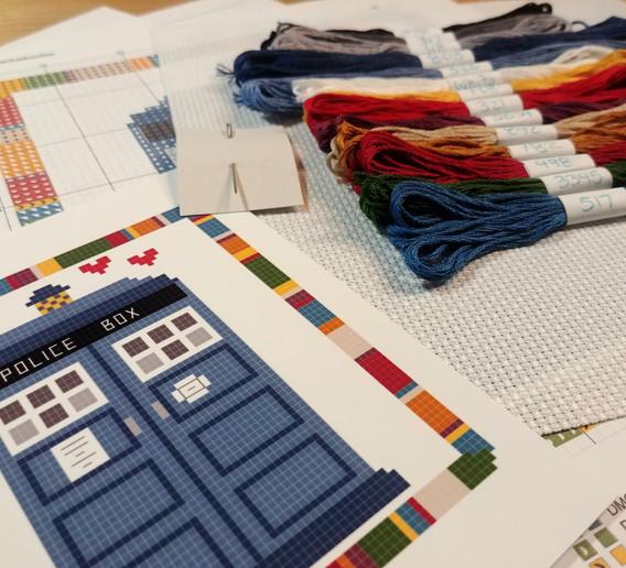 Tardis Cross Stitch Kit
