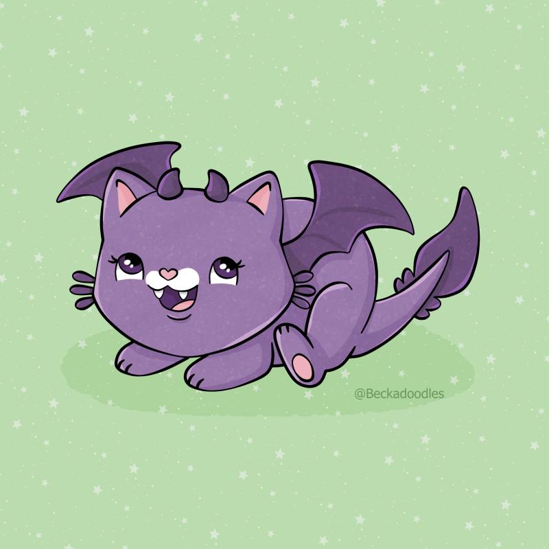 Chubby Dragon Cat