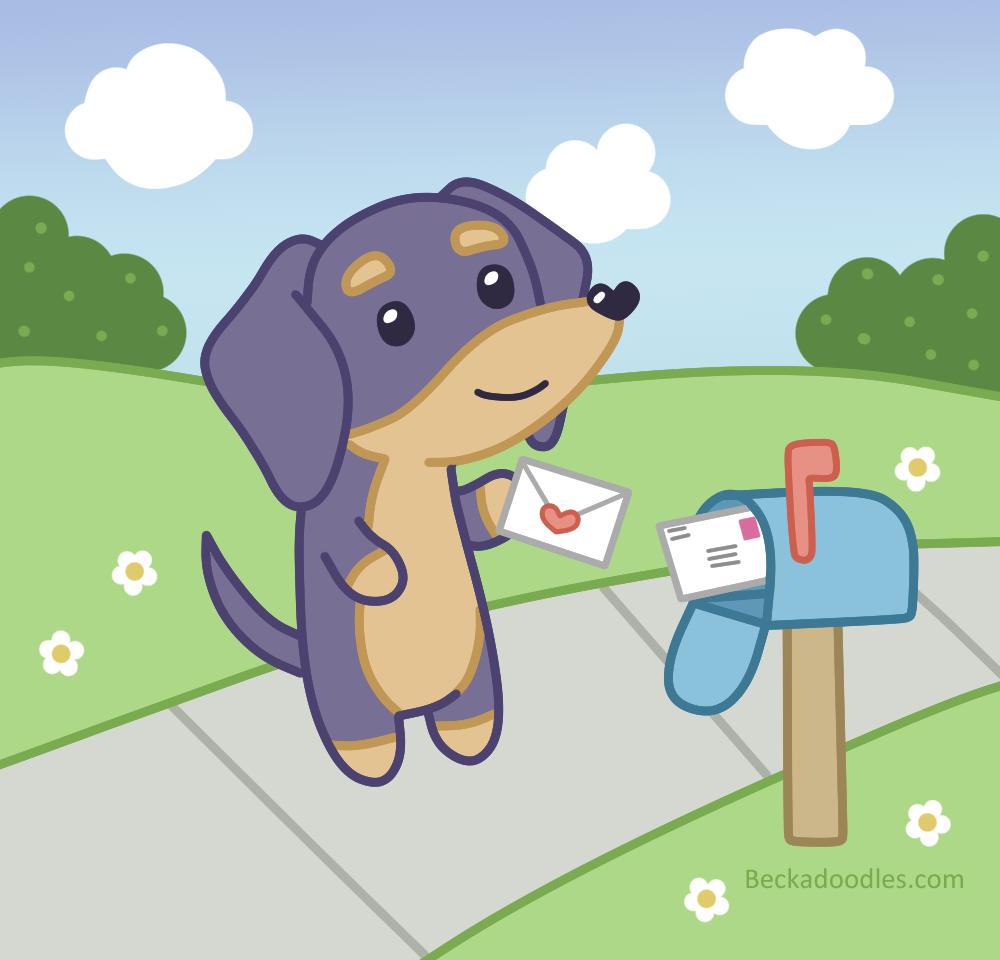 Weenie Loves Mail