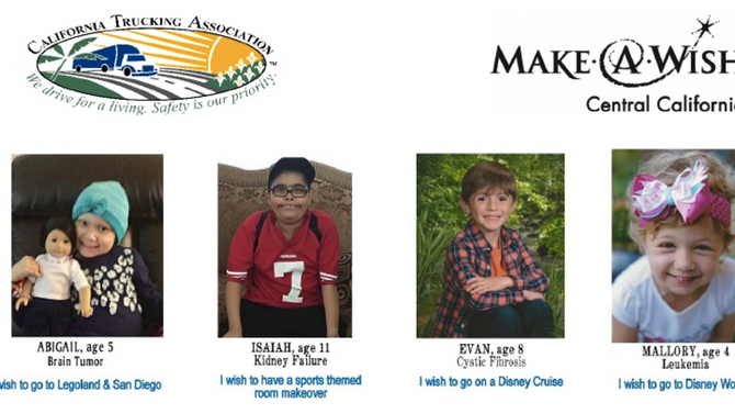 California Trucking Association's Kern Unit Donates $22,000 to the Make-A-Wish Foundation