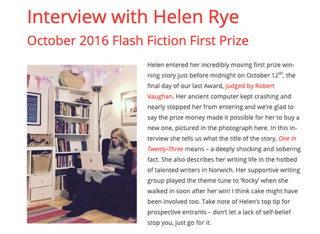 Interview for The Bath Flash Fiction Award