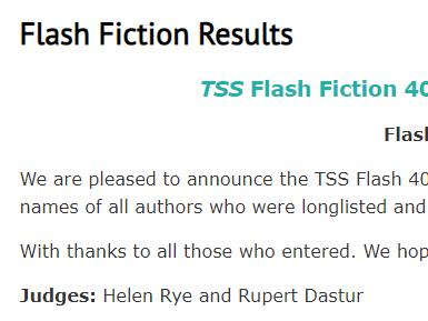 Judging TSS Flash 400 - Results