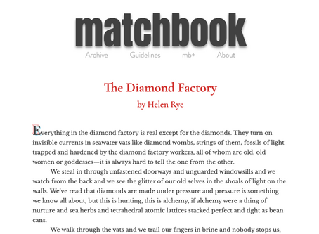 matchbook litmag - The Diamond Factory
