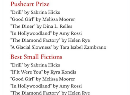 Pushcart Prize and Best Small Fictions Nomination from matchbook litmag!