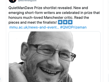 Quiet Man Dave Prize Finalist!!