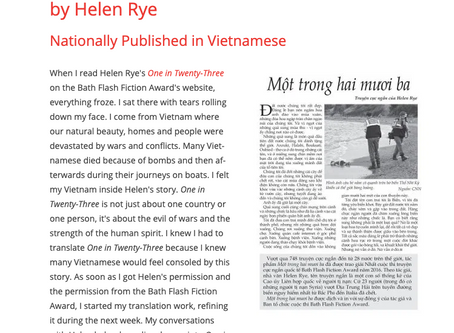 One In Twenty-Three: Nguyen Phan Que Mai's Translation Published in Hanoi Moi