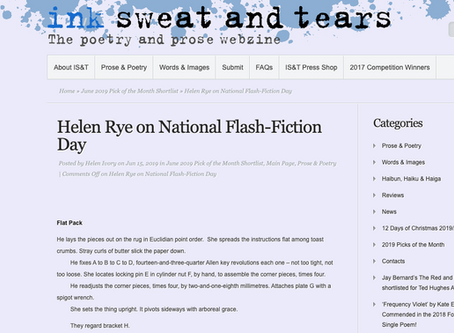Ink, Sweat and Tears' National Flash Fiction Day Story 2019