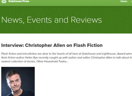 Interviewing Christopher Allen for Gatehouse Press