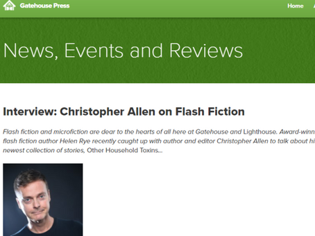 Interviewing Christopher Allen for Gatehouse Press