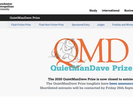 Quiet Man Dave Prize - Longlist