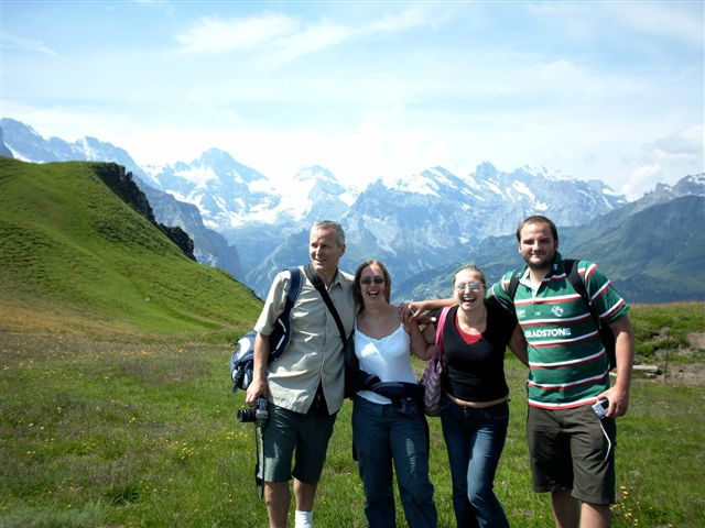 ... the alps, lauren, alex and will