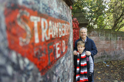 .. george and strawberry fields