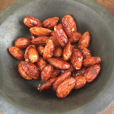 Warm roasted almonds...