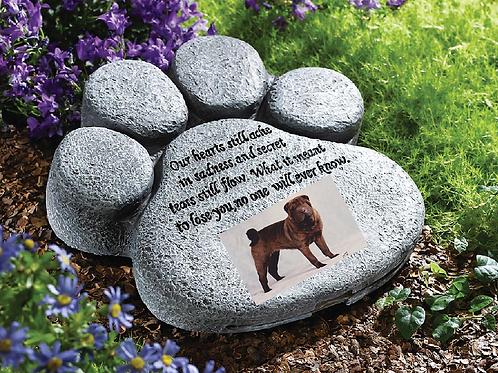 Pet Paw Memorial Stone