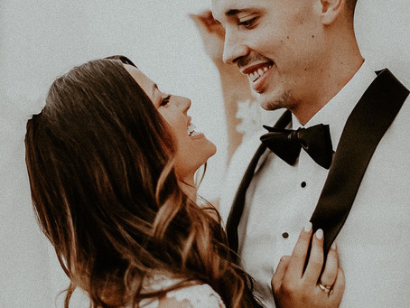 Our Dreamy Black and White Wedding