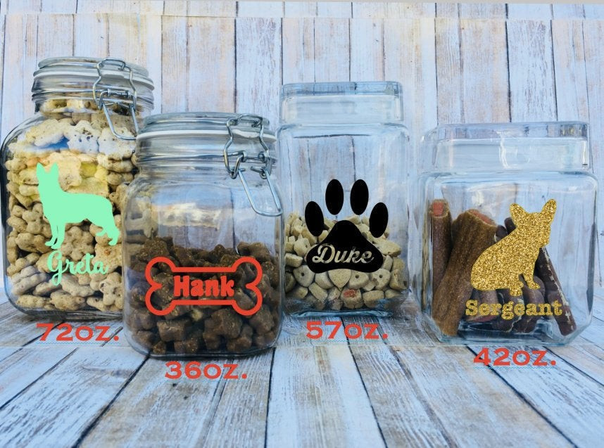 personalized pet treat jars