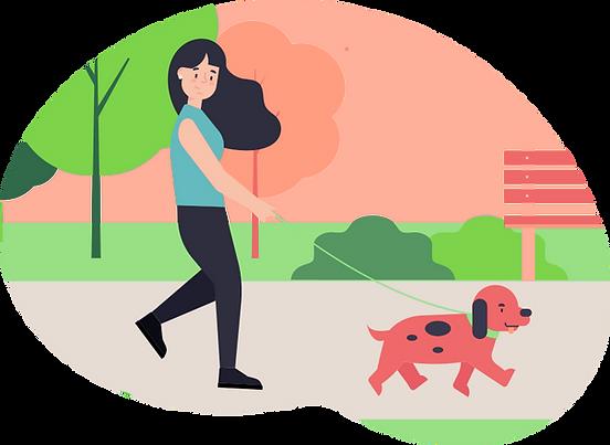 Sniff San Diego dog walker graphic