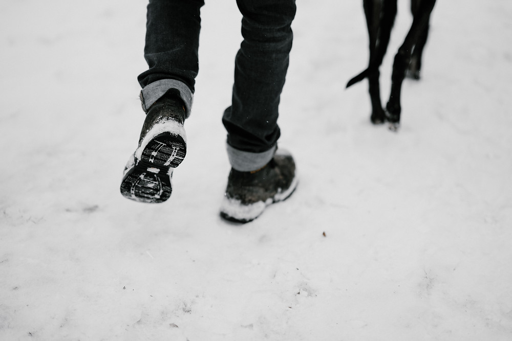 Comfy winter dog walker shoes