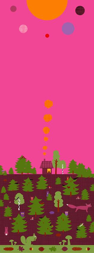 Busiga djur / Huset i skogen