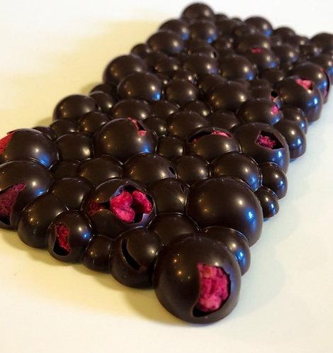Dark Chocolate Artisan Bar w/Raspberries YB