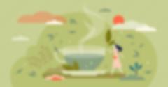 Greenteavectorillustration.Herbaldrinkin