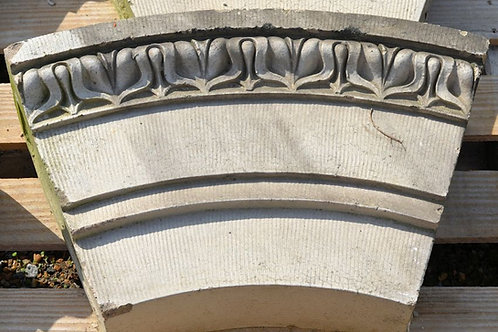 Arched top stone