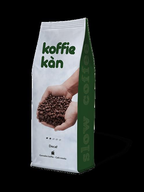 Bio gemalen deca koffie