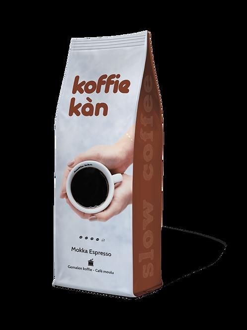 Mokka gemalen koffie