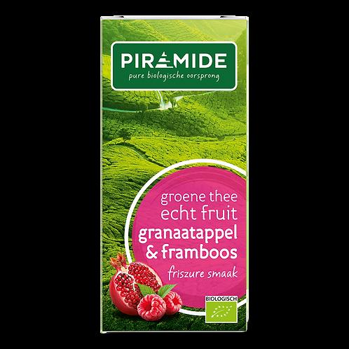 Groene thee granaatappel framboos
