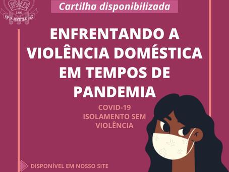 Cartilha traz informações sobre combate à violência doméstica no contexto da pandemia