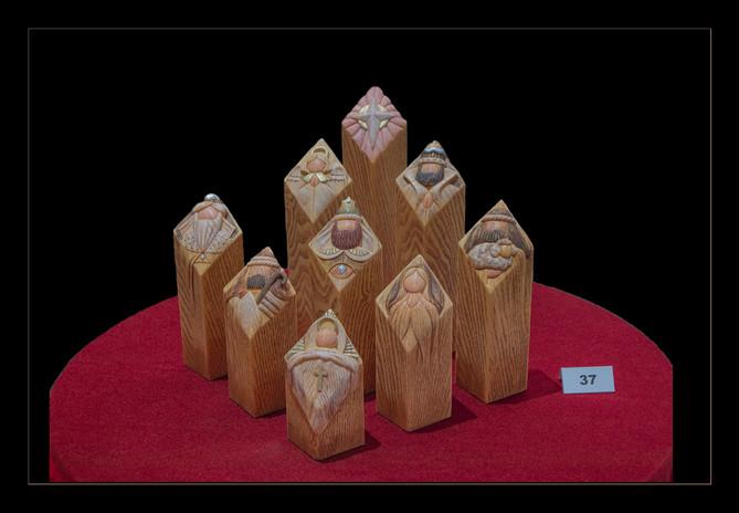 Fran Cantella: Carved Pillars of Heaven: Kim Lawrence