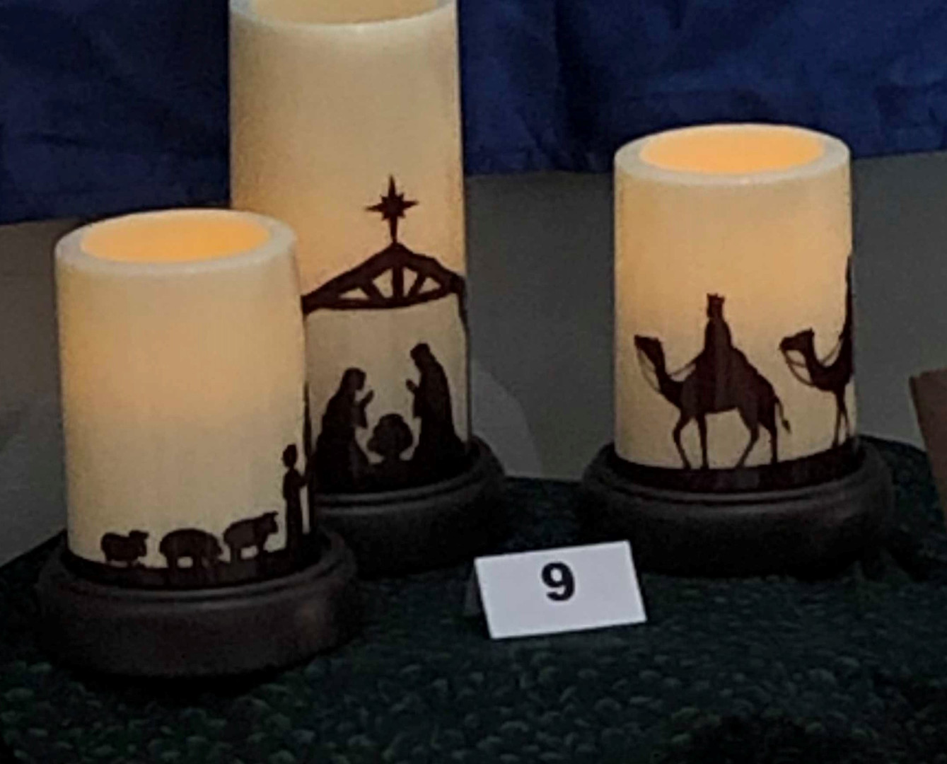 The Higginbothams: Candle Silhouette Nativity