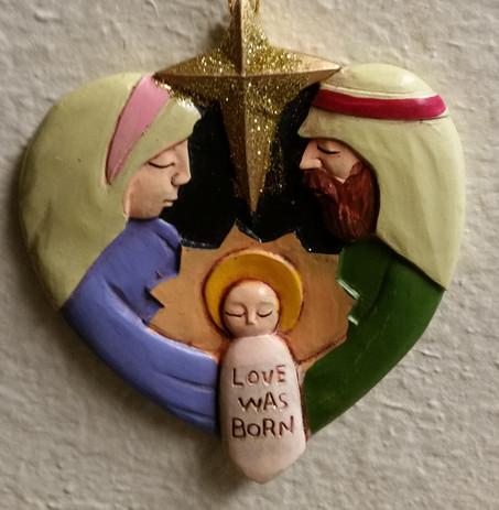 Holy Family-resin