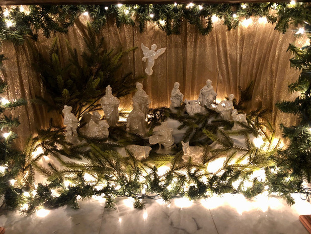 Ceramic Nativity made by Jean Montella, Rev. Christopher's mother.