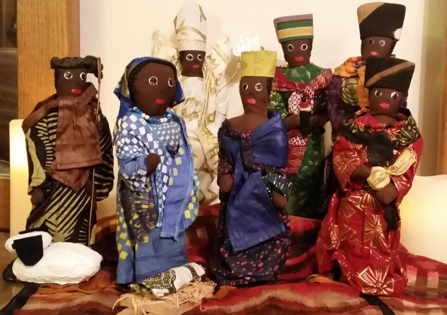 The Higginbothams: Nigerian Handmade Nativity