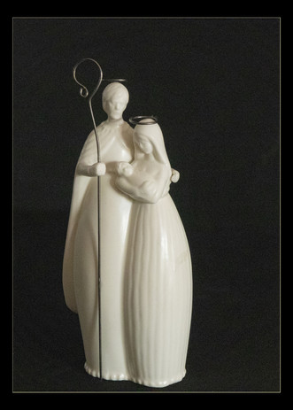 Cathy Gero: Holy Family, White Porcelain