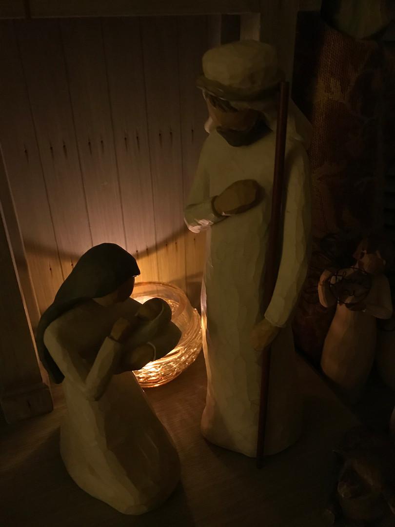 Mary Mercogliano: Mary, Joseph, baby Jesus-Willow Tree