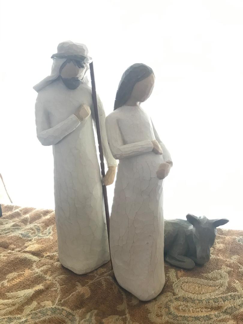 Mary Mercogliano: Advent (Pregnant) Mary-Willow Tree