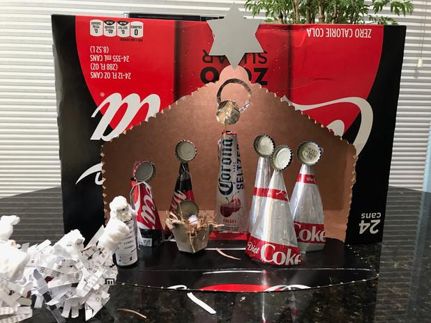 Karen Fencil: Recycled Nativity made by Karen